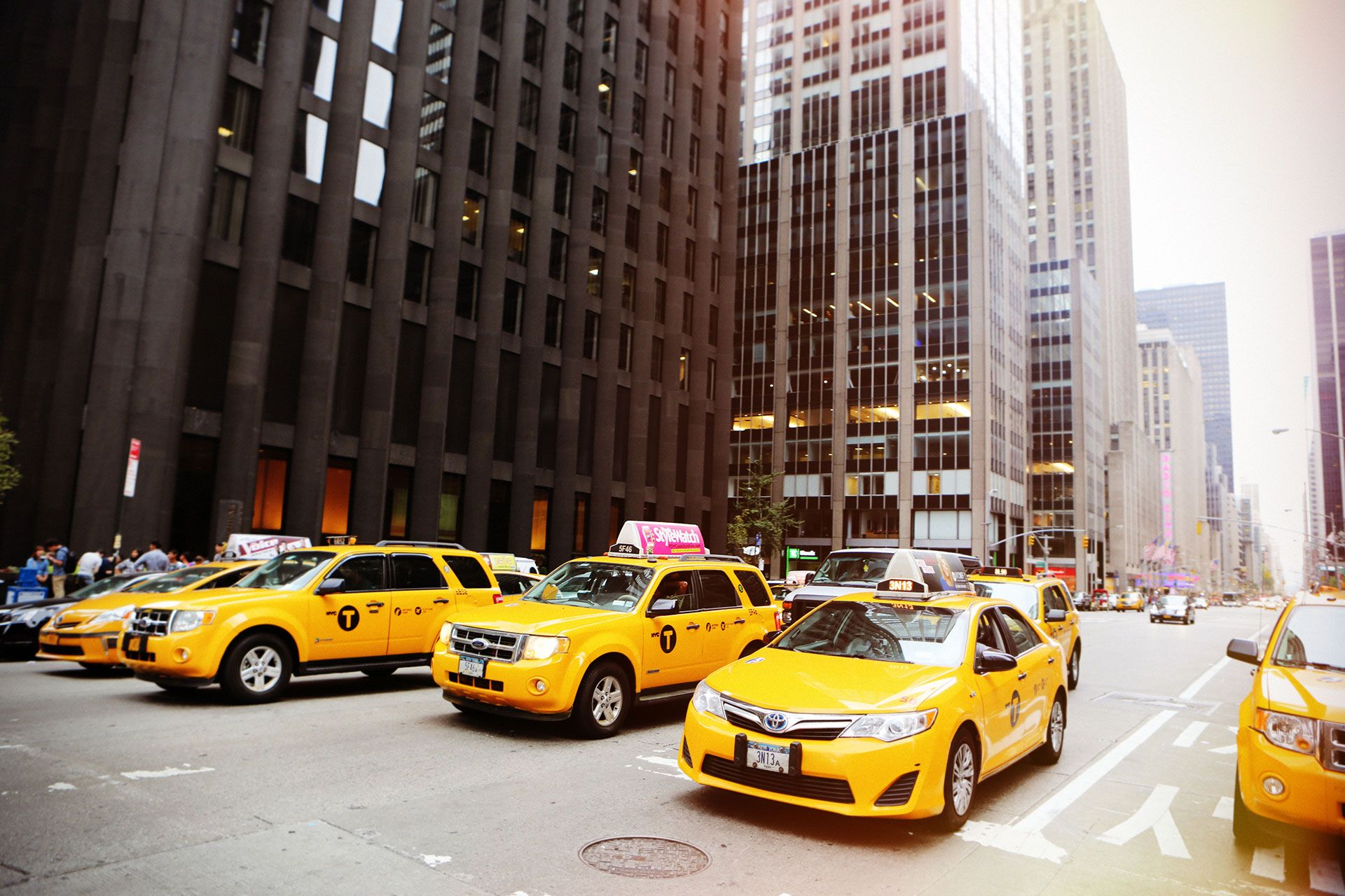 Taxi in Downtown