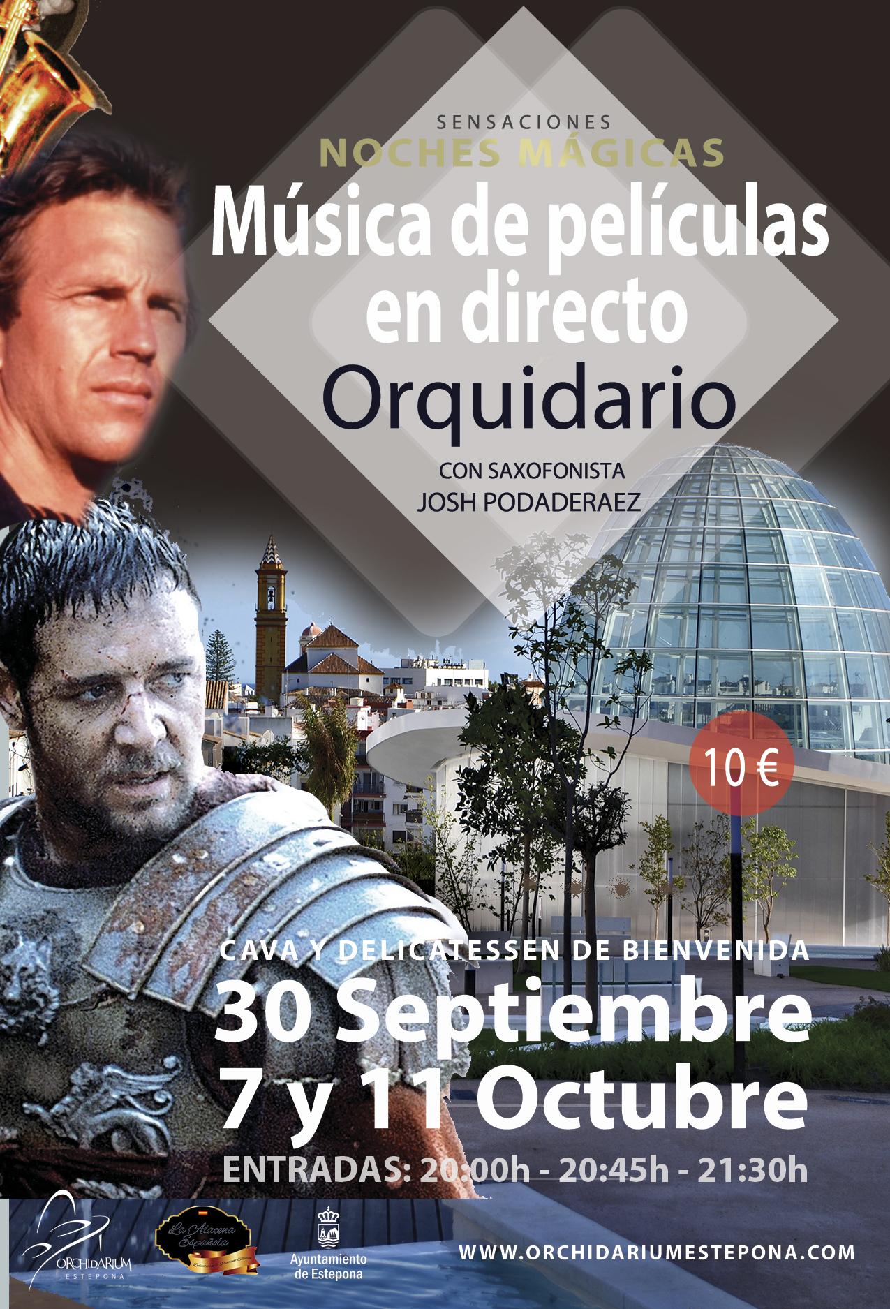El ciclo de conciertos en el Orquidario continúa con la actuación de saxo de Josh Podaderaez